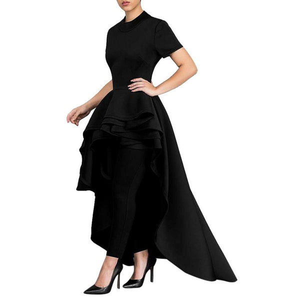 Goddessvan Women Short Sleeve High Low Peplum Dress Bodycon Party.