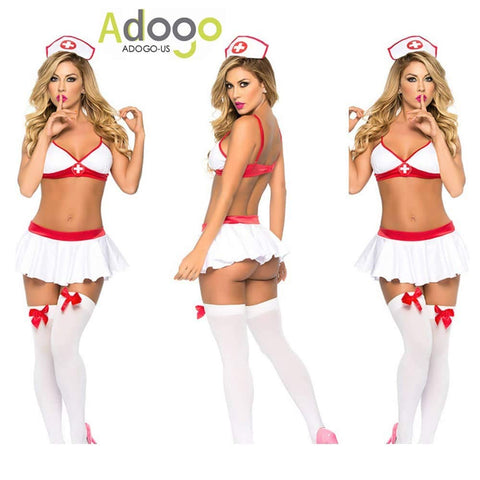 Nurse Sexy Costume Outfit Set Babydoll Bedroom Honeymoon Cosplay Nurse Clothing Fits