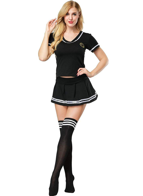 Women Cheerleader Costume - Halloween Student Role Playing Soccer Uniforms Sexy Schoolgirl Costume