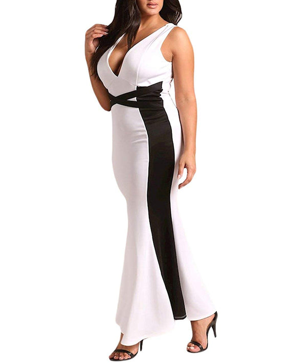 Short Sleeve Rhinestone Plus Size Long Cocktail Evening Dress