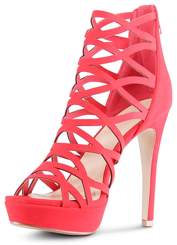 Open Toe High Heels Platform Shoes Stiletto Dress Sandals