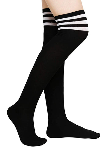Aneco Over Knee Thigh Socks Knee-High Sock High Thigh Stockings High Boot Thigh Women Socks for Cosplay,Daily Wear