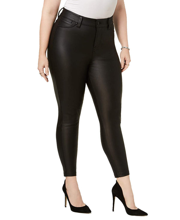 Celebrity Pink Plus Size Faux-Leather Skinny Jeans