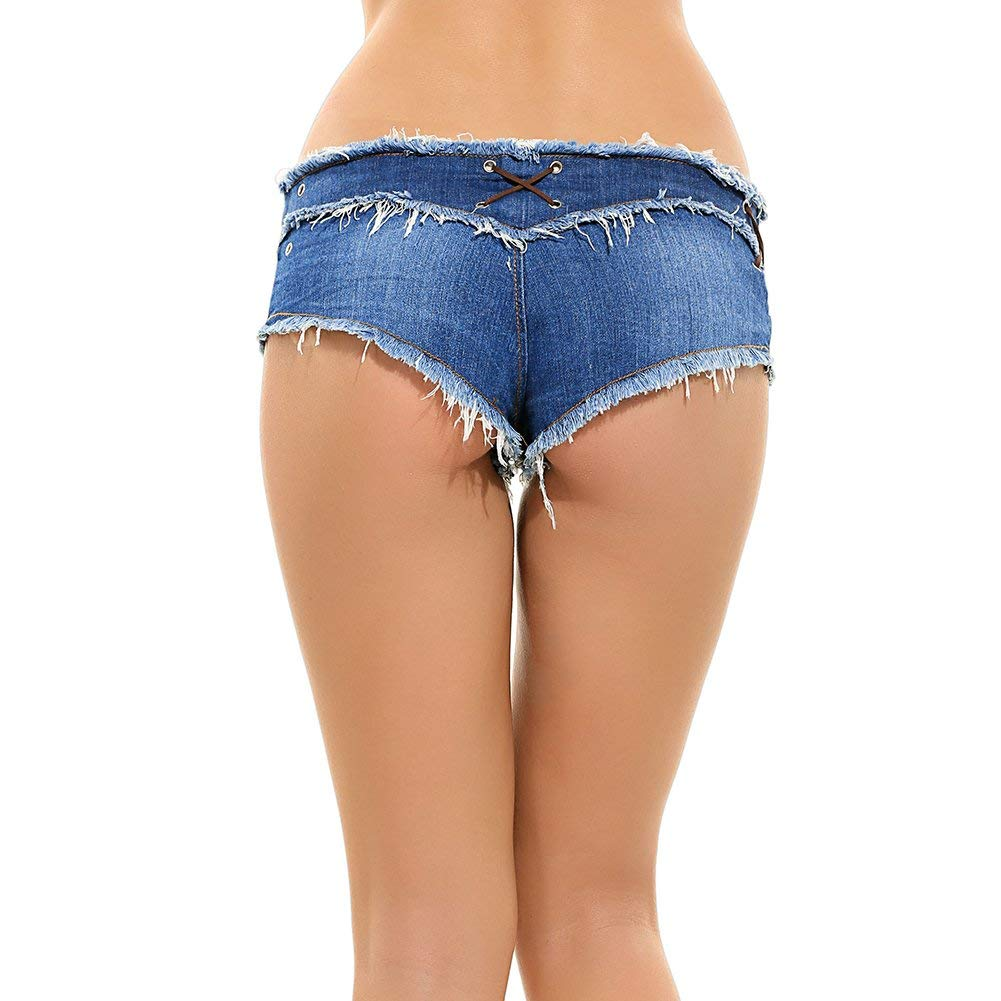 quality products size 7 factory outlets Waist Sexy Micro Jeans Hot Pants for Woman Girls Teen ...