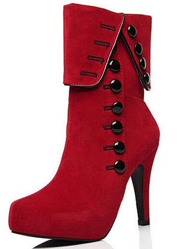 High Heel Side Zipper Ankle Booties