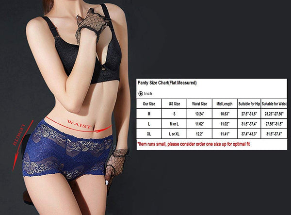 High-Rise Tummy Control Lingerie Underwear Briefs Floral Lace.