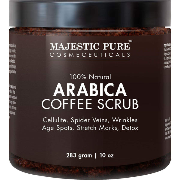 Coffee Scrub, Natural Body Scrub for Skin Care - 10 Oz