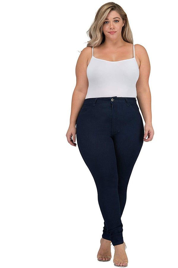 LOVER BRAND FASHION High Waisted Women Petite-Plus Size (1XL-4XL) Stretch Colored Jeans Pants