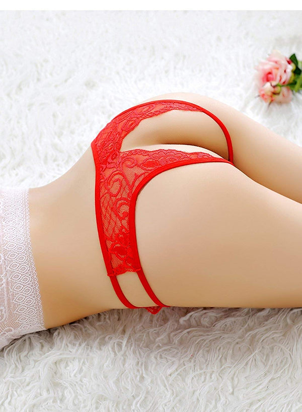 Lace Thongs Open Crotch Underwear Thongs Lace G-Strings Sexy Panties