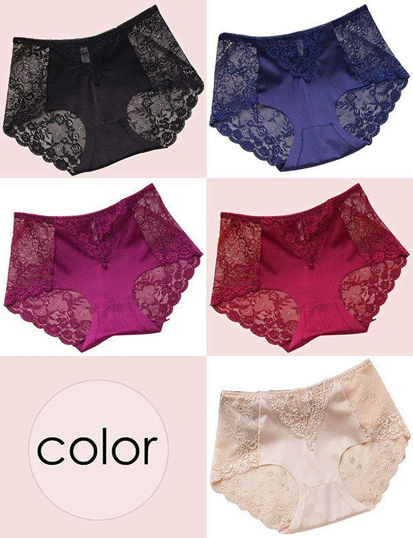 Sexy Lace Underwear Briefs Panties for Women-5 Pack