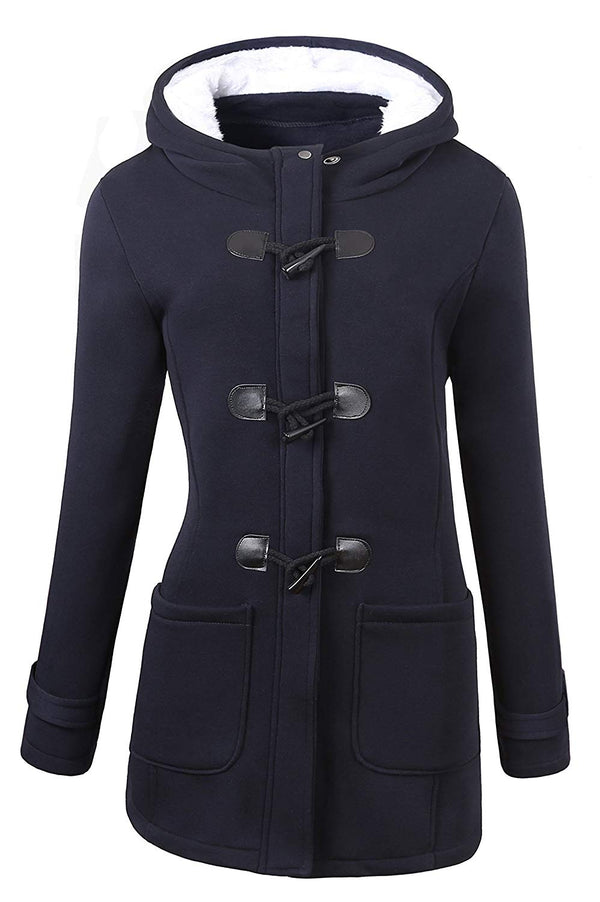 Outdoor Warm Wool Blended Classic Pea Coat Jacket.