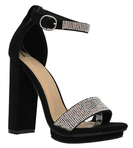Double Buckle Strappy High Heel Sandals - Sexy Open Toe Pump Shoes -Cross Strap Party Dress Platfoms