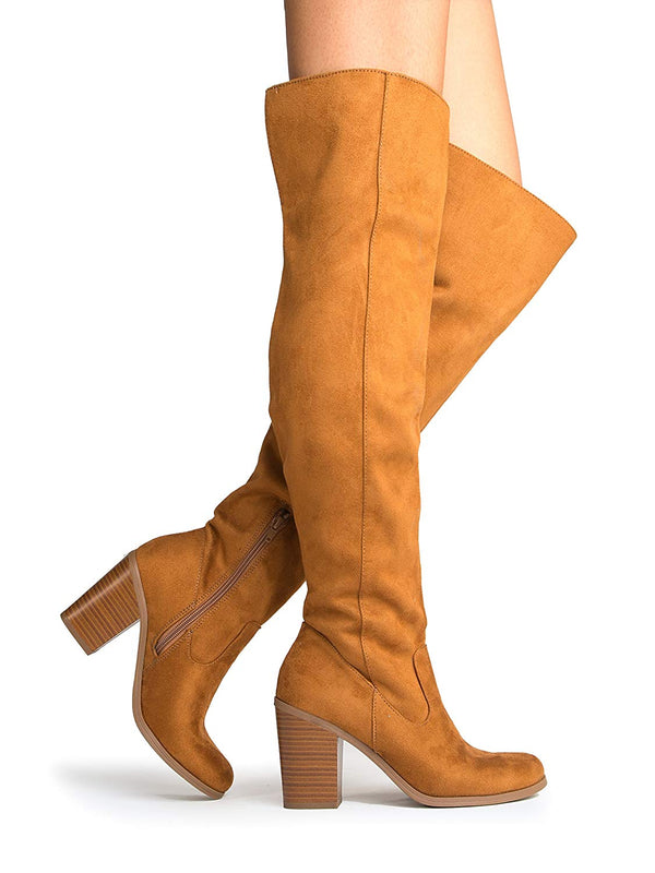 Comfortable Cushioned Dress High Heel Shoes – Casual Over The Knee Boot