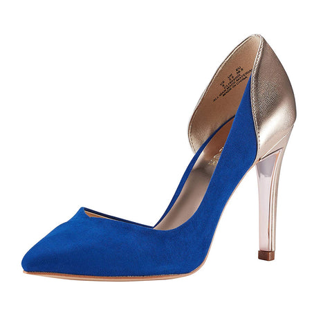 Pointed Toe Stiletto High Heel Pumps Ladies Patchwork D'Orsay Slip On Dress Party Shoes