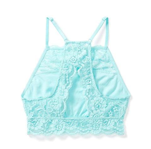 Mae Women's Hi-Neck Lace Bralette (for A-C cups)
