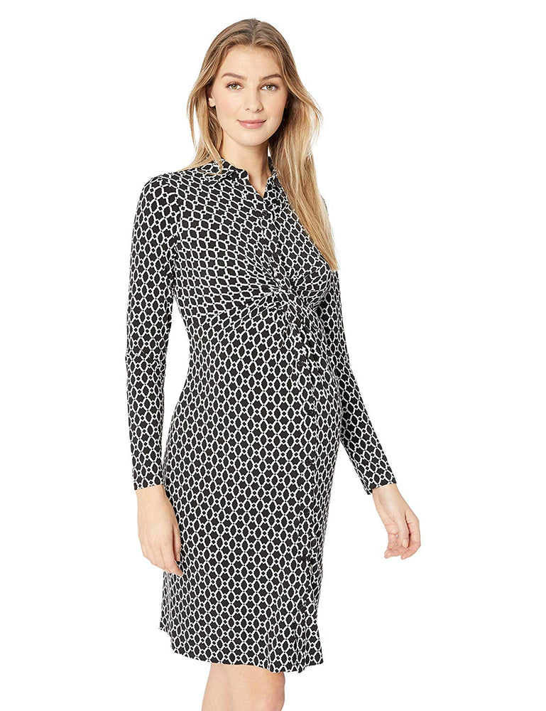 Motherhood Maternity Long Sleeve Dress.