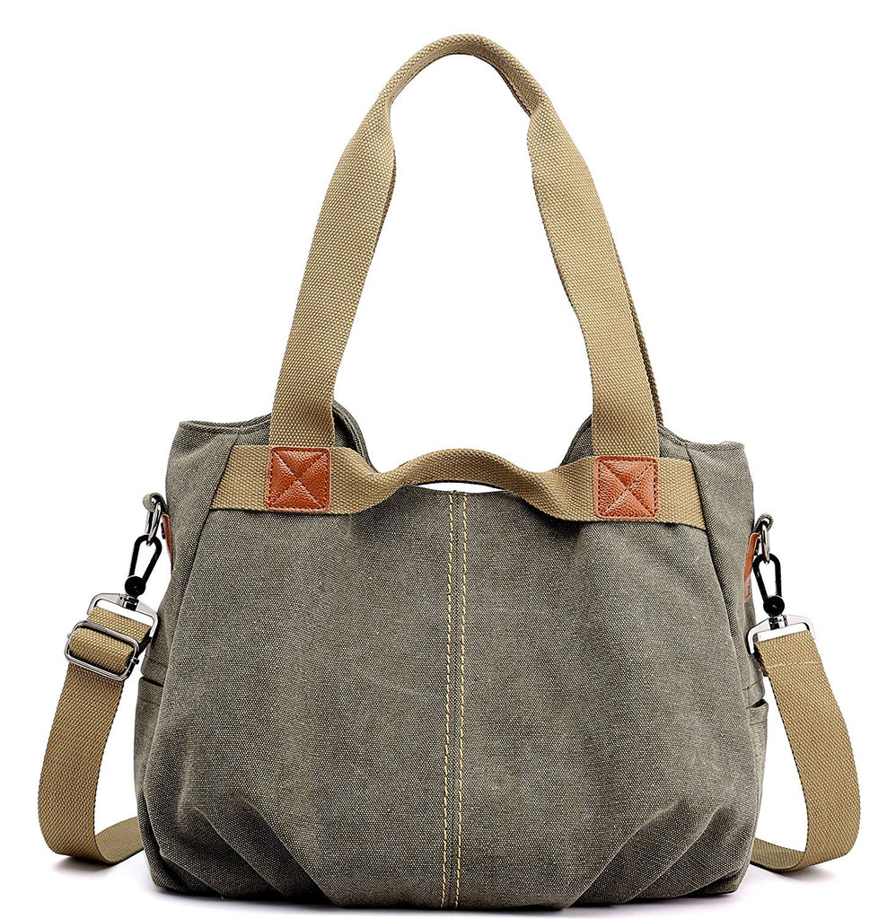 Vintage Hobo Canvas Daily Purse Top Handle Shoulder Tote Shopper Handbag