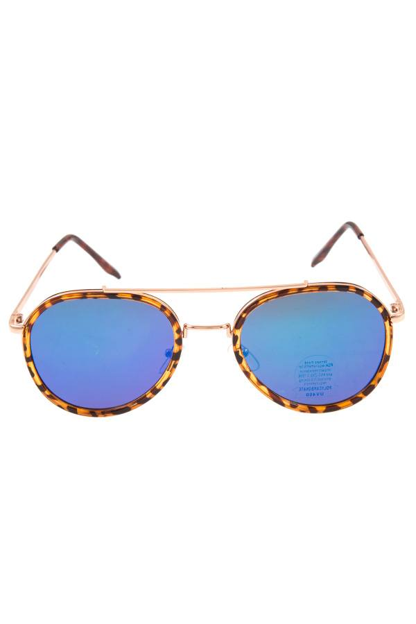 Color lens double accent framed sunglasses