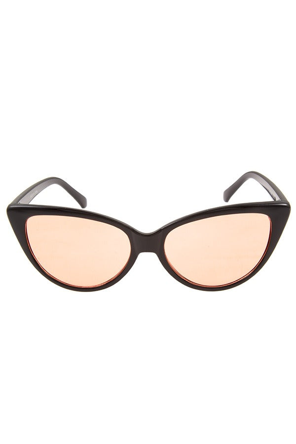 Color lens cat eye framed sunglasses