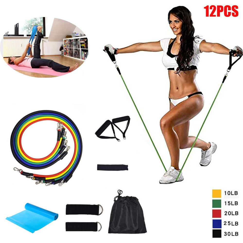 Latex Fitness Pilates Yoga Gym Resistance Ankle Straps.