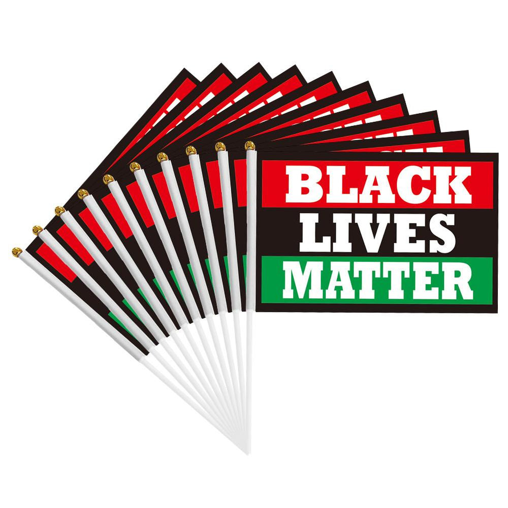 10PCS/lot STOP Killing BLACK PEOPLE,BLACK LIVES MATTER Flag Banner for Outdoors