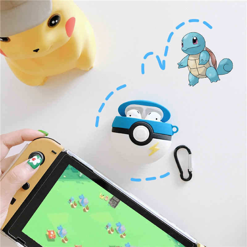 Bluetooth Earphone Case for Airpods Cute Silicone Protective Cover for Airpods 2 Accessories Keychain.