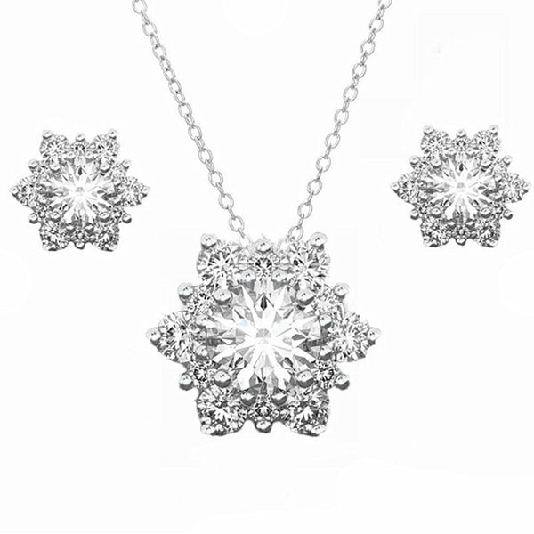 3 Pcs/set Snowflake Antique Necklace, Earrings and Necklace.