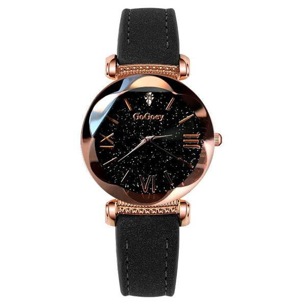 Luxury Ladies Starry Sky Watches For Women Fashion Diamond.