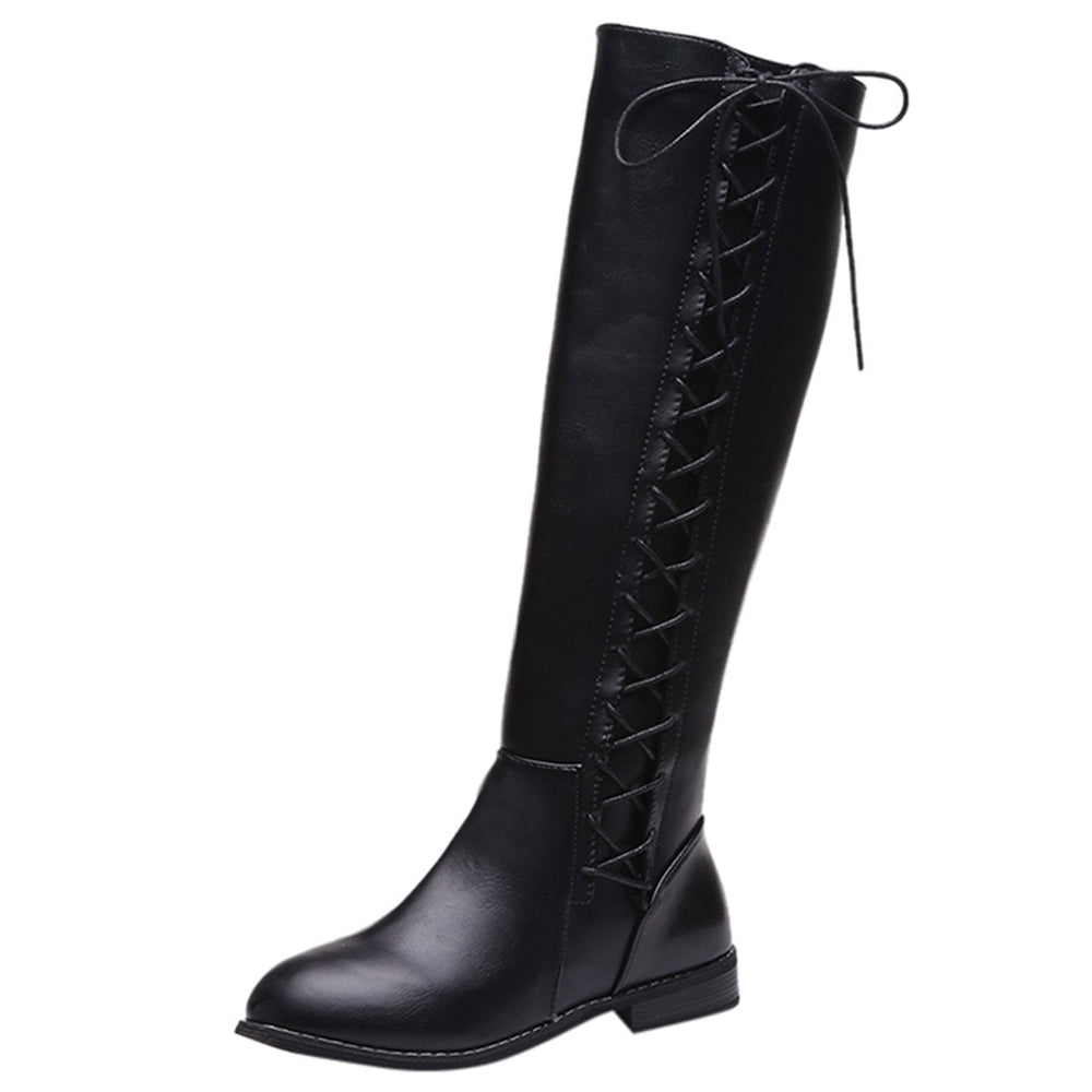 Retro Leather Riding Boots For Women.