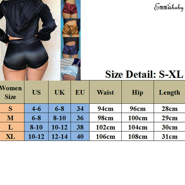 Soft Pink Silk Satin Shorts Women Sexy High Waist Bodycon Flannel Short Pants Pantalones Mujer Fitness Sleep Wear