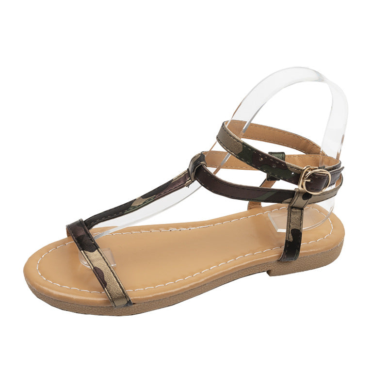 Casual sandals buckle ladies shoes.
