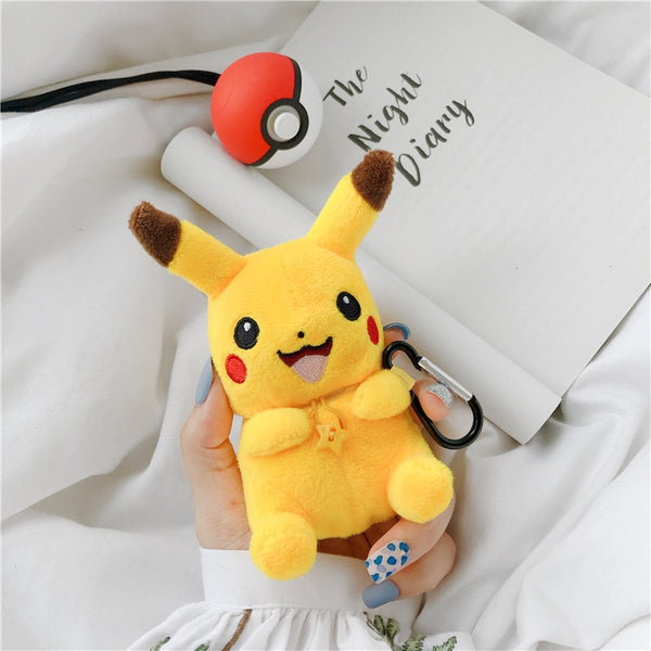 Cute Plush Doll For Apple Airpods Case Funny Cartoon Bluetooth Earphone Cover.