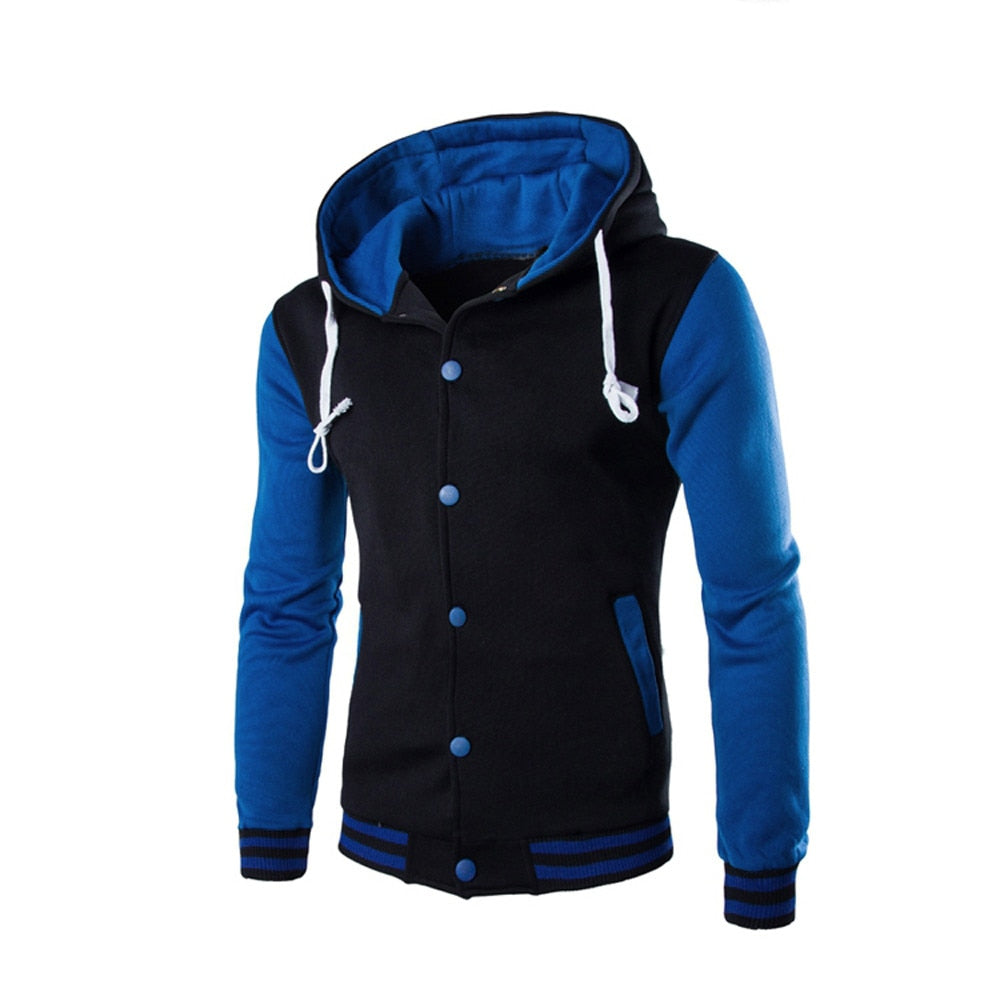 Men Coat Jacket Outwear Winter Slim Hoodie Warm Hooded.
