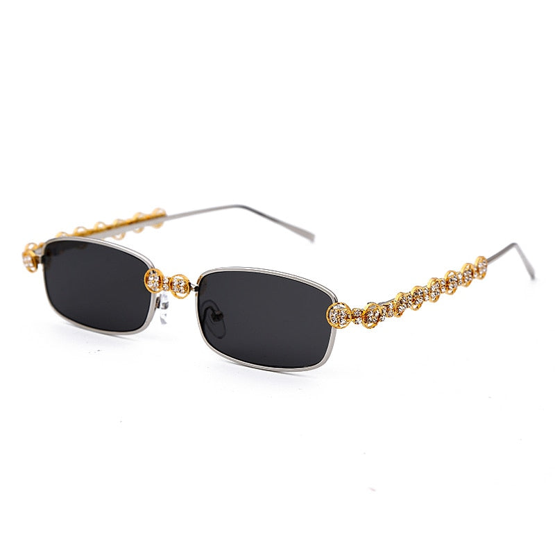 Rectangle Rhinestone Sunglasses.