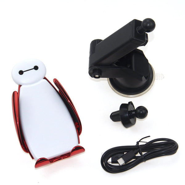Baymax Car Qi Wireless Charger For iPhone XS Max X 8 10w Fast Wirless Charging Wireless Car Charger