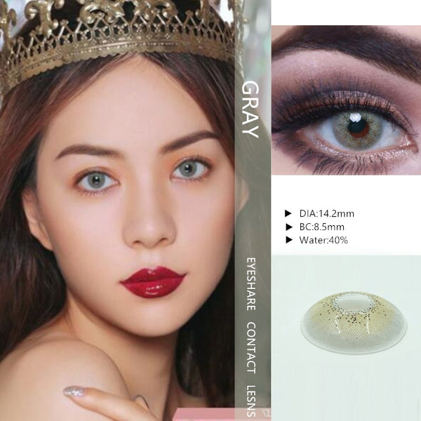 EYESHARE- 1 Pair  Bitas Ocean Color  Beautiful Pupil Contact Lenses Cosmetic Contact Lens Eye Color (2pcs)