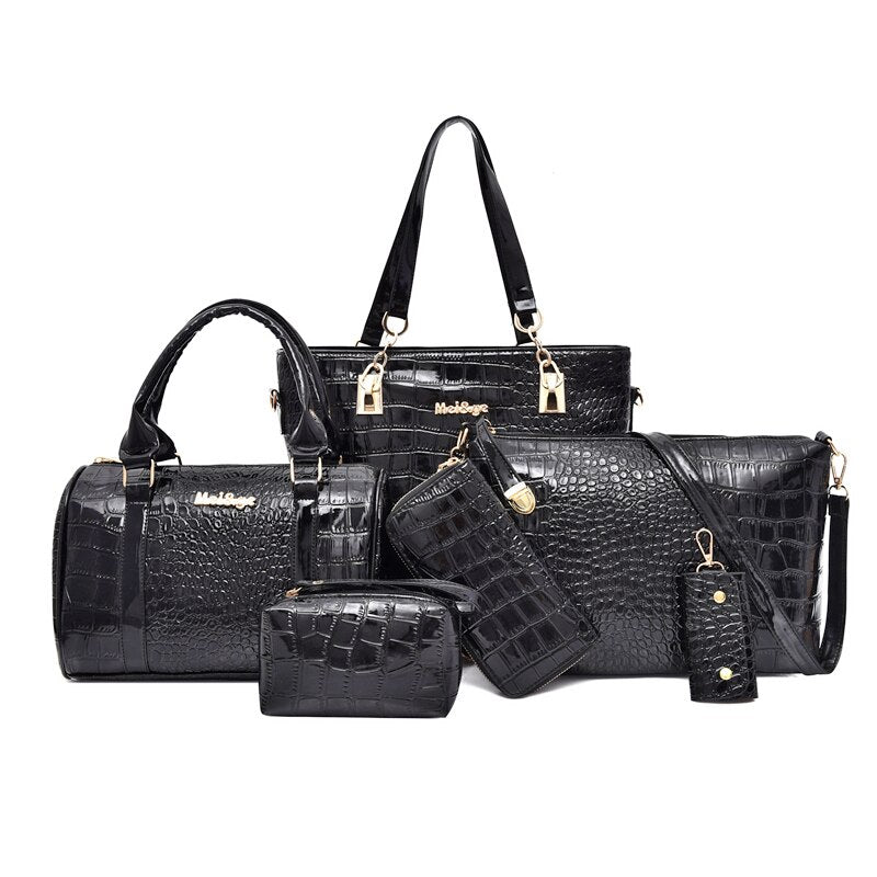 Handbags Shoulder Bags Female Practical Composite Bag 6-Piece Set Designer.