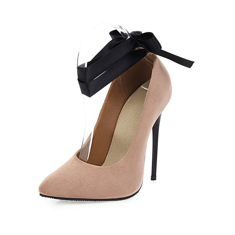 Sexy Pointed Toe Classic Pumps Women Shoes Straps. Large Size.