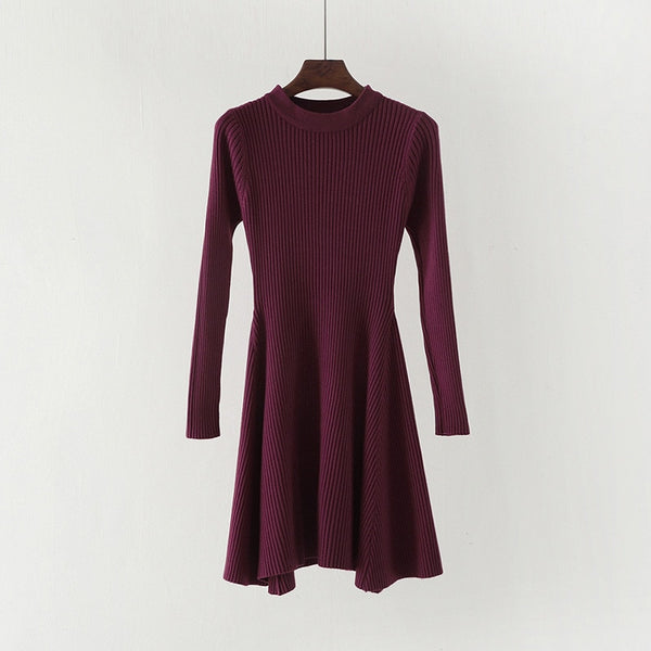 Long Sleeve Sweater, Casual Autumn Winter Dress Wome