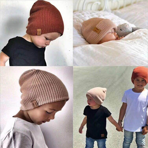 New Arrival Kids Girl Boy Winter Hat Baby Soft Warm Beanie Cap Crochet Elasticity Knit Hats Children Casual Ear Warmer Cap