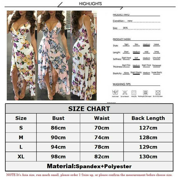 2019 The Newest Fashion Wear Take Polyester Hot Women Summer Boho Long Maxi Dress Evening Party Beach Sundress S-XL