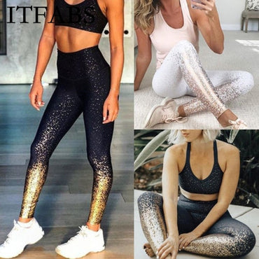 ITFABS Women Sport Pants High Waist Yoga Fitness Leggings Running Gym Scrunch Trousers