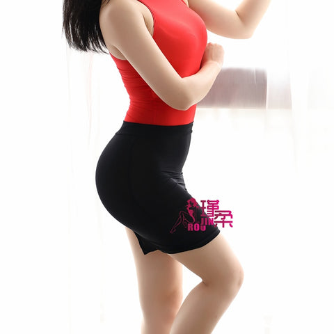 New Sexy Women High Cut Tight Pencil Cute Skirt Ice Silk Micro Mini Skirt Transparent Night Club Skirt Fantasy Erotic Wear F14