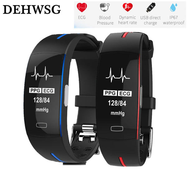 Blood Pressure Heart rate Monitor IP67 waterpoof Pedometer Sports Fitness Bracelet VS fit bits