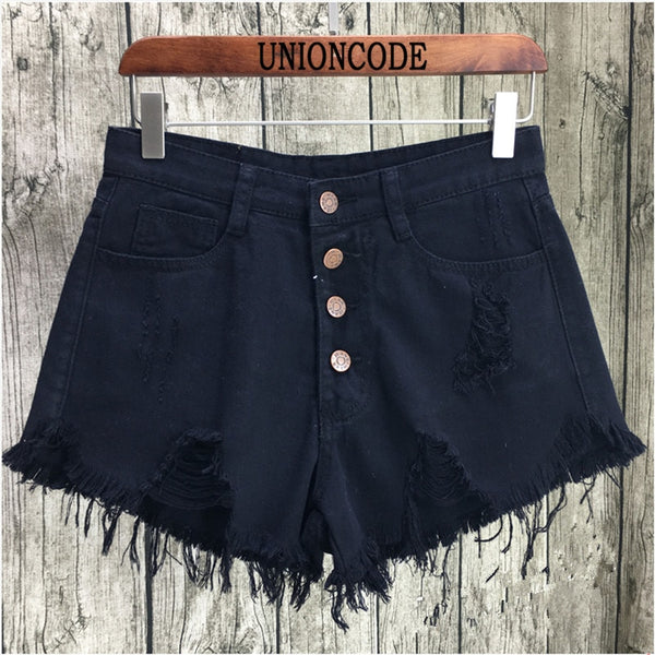 women Casual pocket jeans shorts