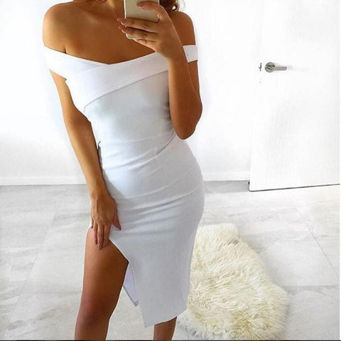 Ladies Evening Party Club Wear Dress Black White Costume Summer Sexy Dresses Women Fashion Bandage Bodycon