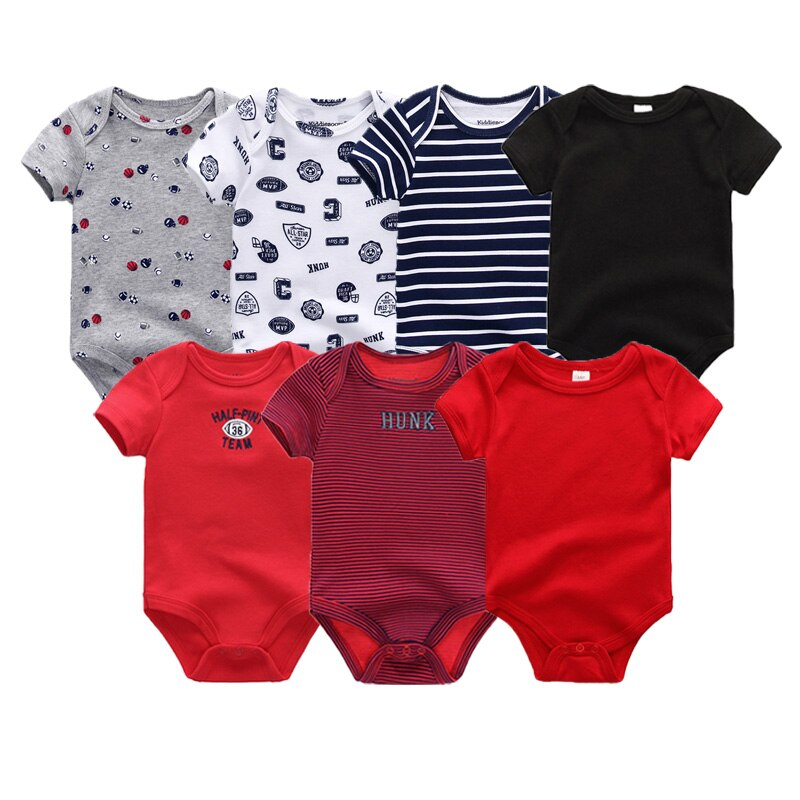 Rompers Clothing 7Pcs/Lot Infant Jumpsuits 100%Cotton