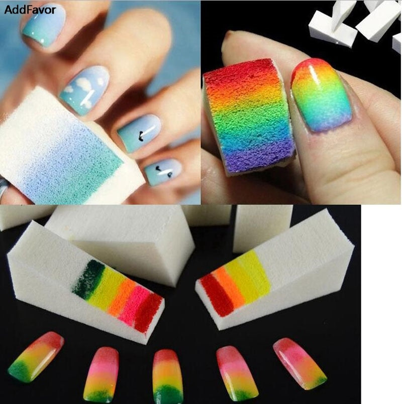 Sponge Polish Stamp Stamping Manicure Nail Art Accessories Color