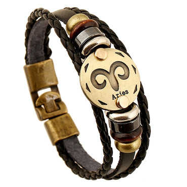 stone stainless Bead Chain Bracelets Fashionable Punk Braceleta Wooden