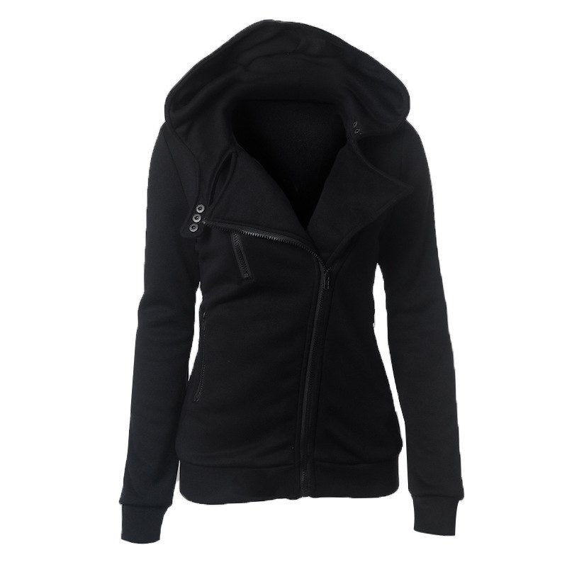 Long Sleeve Hoodies Sweatshirt Women Jackets Zipper